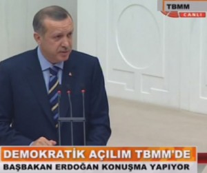 Recep Tayyip Erdoan  l'assemble nationale le 13 novembre 2009